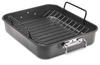 "16"" Aluminized Steel Roaster with Rack"