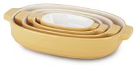 Ceramic 4-Piece Nesting Casserole Set