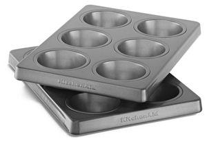 Professional-Grade Nonstick 6-Cavity Regular Sized Muffin Pan Set of 3