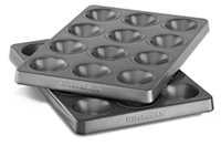 Professional-Grade Nonstick 12-Cavity Mini Muffin Pan Set of 2