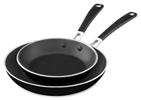 "Aluminum Nonstick 8"" and 10"" Skillets Twin Pack"