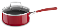 Aluminum Nonstick 2.0 quart Saucepan with Lid