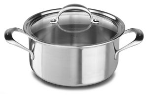 5-ply Copper Core 6-Quart Low Casserole with Lid