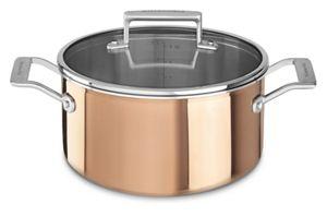 Tri-Ply Copper 6-Quart Low Casserole with Lid