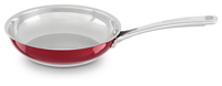 "STAINLESS STEEL 8"" SKILLET RED"