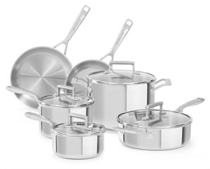 Tri-Ply Stainless Steel 10-Piece Set