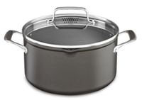 6.0 Qt Hard Anodized Low Non Stick Casserole With Lid