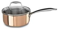 Tri-Ply Copper 1.5-Quart Saucepan with Lid