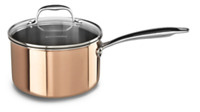 Tri-Ply Copper 3.0-Quart Saucepan with Lid