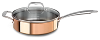 Tri-Ply Copper 3.5-Quart Sauté with Lid