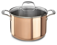 Tri-Ply Copper 8-Quart Stockpot with Lid