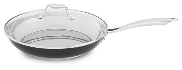 "Image of KitchenAid® Stainless Steel 12"" Skillet with Glass Lid"
