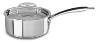 Tri-Ply Stainless Steel 1.4 L Saucepan with Lid