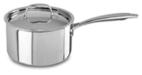 Tri-Ply Stainless Steel 2.8 L Saucepan with Lid