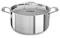 Tri-Ply Stainless Steel 5.6 L Low Casserole with Lid