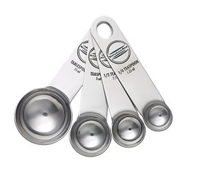 Set of 4 Stainless Steel Measuring Spoons