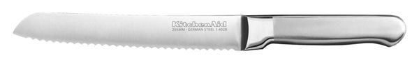 Classic Forged 8-Inch Brushed Stainless Scalloped Bread Knife