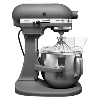 4.8 L Bowl-Lift Stand Mixer-2 Bowls plus complimentary Ice Cream Maker Attachment (5KICA0WH)