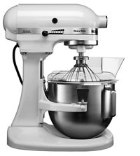 4.8 L Bowl-Lift Stand Mixer plus complimentary Ice Cream Maker Attachment (5KICA0WH)