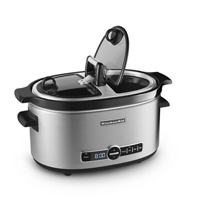6-Quart Slow Cooker with Easy Serve Glass Lid