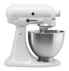 white classic series 4 5 quart tilt head stand mixer k45sswh rh kitchenaid com kitchenaid mixer ksm90 manual KitchenAid Mixer User Manual