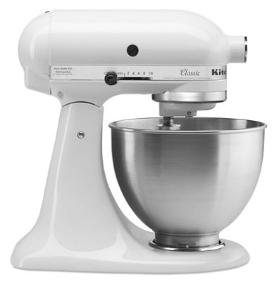 white classic series 4 5 quart tilt head stand mixer k45sswh