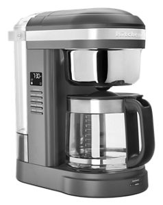 12 Cup Drip Coffee Maker with Spiral Showerhead and Programmable Warming Plate