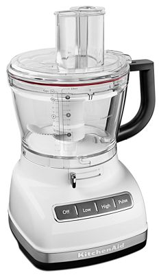 White 14 Cup Food Processor With Commercial Style Dicing Kit