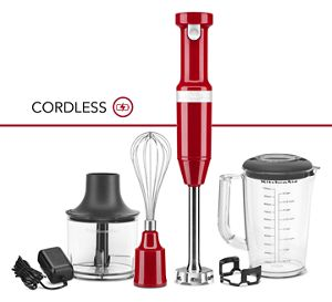 Variable Speed Cordless Hand Blender w/ Accessories