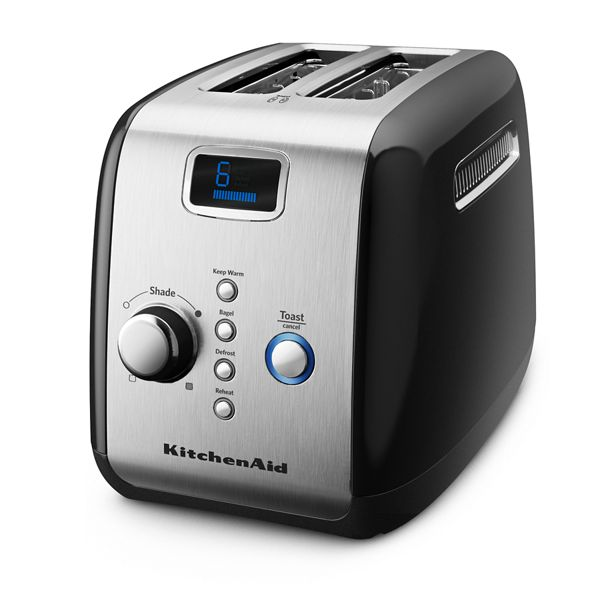 2-Slice Toaster with One-Touch Lift/Lower and Digital Display