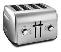 4 SLICE METAL TOASTER - MANUAL LIFT