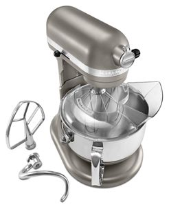Cocoa Silver Pro 600™ Series 6 Quart Bowl Lift Stand Mixer KP26M1XACS |  KitchenAid