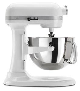 White Pro 600™ Series 6 Quart Bowl Lift Stand Mixer KP26M1XWH | KitchenAid