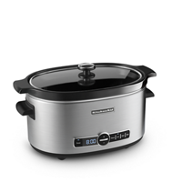 6-Quart Slow Cooker with Solid Glass Lid