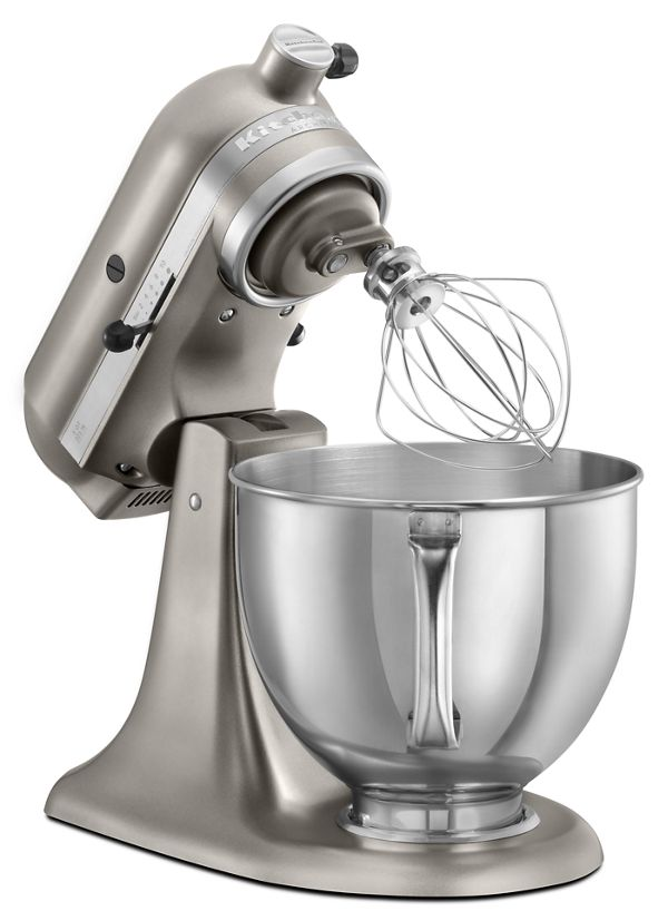 Designed to reflect your passion for cooking and entertaining, the 325-watt Architect Tilt-Head Stand Mixer with its 5-quart mixing bowl is an attractive addition to any kitchen. The bowl features an ergonomically designed handle for easy lifting and steady handling. A powerful 325-watt motor easily mixes everyday recipes, including multiple batches of batter and dough at 10 speeds that range from slow stirring to fast whipping. The unique Planetary Mixing Action causes the beater to spiral within the bowl for efficient, thorough mixing, providing beater-to-bowl coverage unrivaled by the competition. The multipurpose attachment hub powers a variety of optional attachments, ranging from food grinders to pasta makers, providing unmatched culinary versatility and convenience. Rugged, durable, all-metal construction provides years of reliable service.