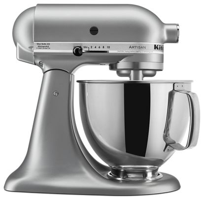 Silver Metallic Artisan® Series 5 Quart Tilt-Head Stand Mixer ...