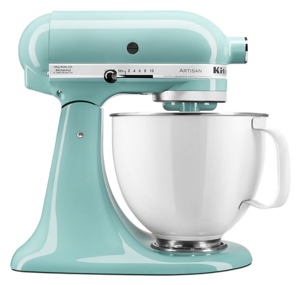 KitchenAid® Artisan® Series Tilt-Head Stand Mixer with 5 Quart White Colorfast Finish Stainless Steel Bowl