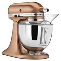 Batidora Artisan KitchenAid® Custom Metallic® color cobre satinado