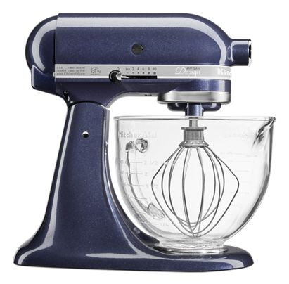 Blueberry Artisan Design Series 5 Quart Tilt Head Stand Mixer With Glass Bowl Ksm155gbub Kitchenaid