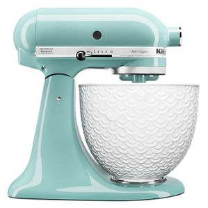 Artisan® Series Tilt-Head Stand Mixer with White Mermaid Lace Bowl