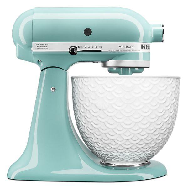 KitchenAid® Artisan® Series Tilt-Head Stand Mixer with White Mermaid Lace Bowl