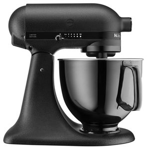 Imperial Black Artisan® Black Tie Limited Edition 5 Quart Tilt Head Stand  Mixer KSM180LEBK | KitchenAid