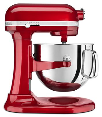 Candy Le Red Pro Line Series 7 Quart Bowl Lift Stand Mixer Ksm7586pca Kitchenaid