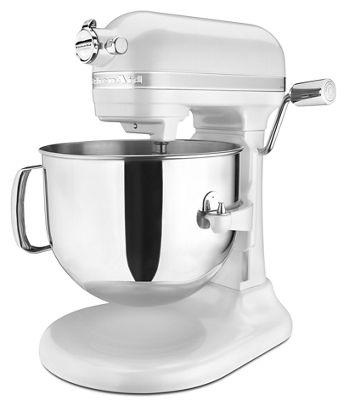 Frosted Pearl White Pro Line Series 7 Quart Bowl Lift Stand Mixer Ksm7586pfp Kitchenaid