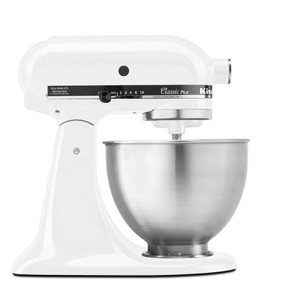 White Clic Plus Series 4 5 Quart Tilt Head Stand Mixer Ksm75wh Kitchenaid