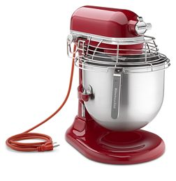 Empire Red Nsf Certified Commercial Series 8 Quart Bowl Lift Stand Mixer With Stainless Steel Guard Ksmc895er Kitchenaid