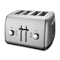 Refurbished 4-Slice Toaster with Manual High-Lift Lever