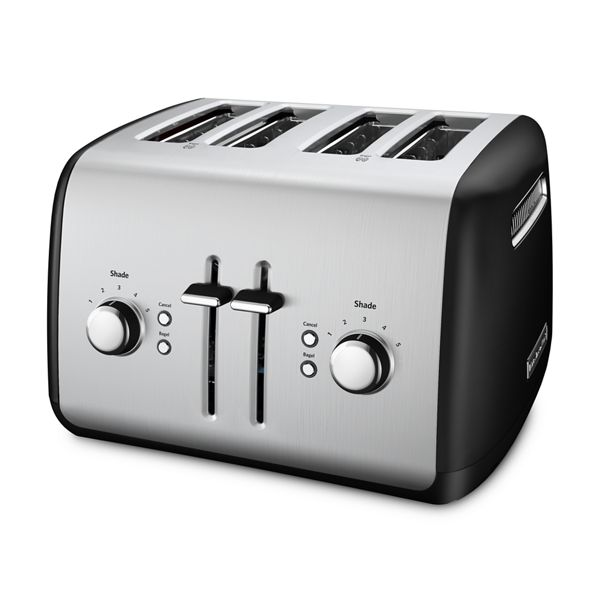 KitchenAid® Refurbished 4-Slice Toaster with Manual High-Lift Lever - RKMT4115OB