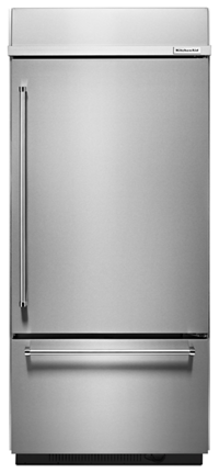 stainless steel 20 9 cu ft 36 width built in stainless bottom rh kitchenaid com