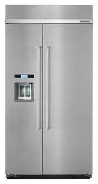 KitchenAid®25.5 cu. ft 42-Inch Width Built-In Side by Side Refrigerator